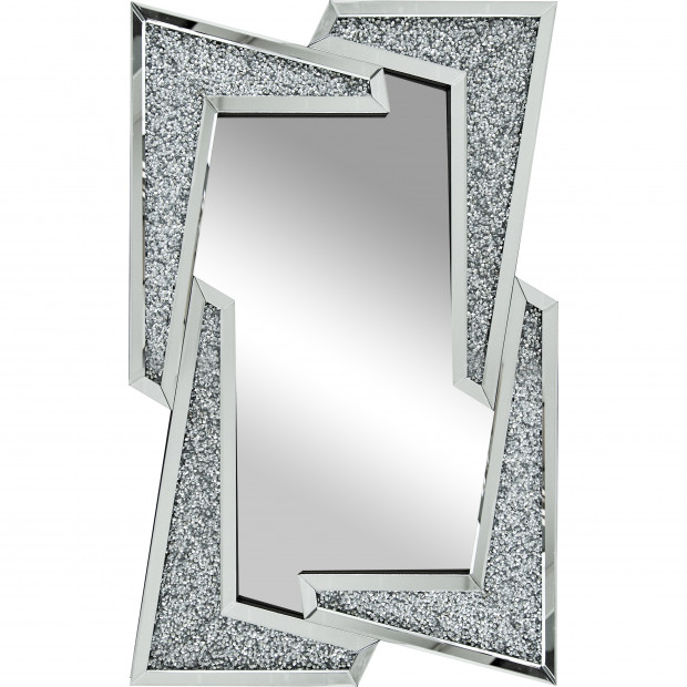 Miroir argenté design effet 3D L 80 x 120 cm collection Fairbanks