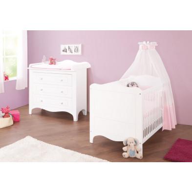 Composition chambre bébé en MDF coloris blanc  collection