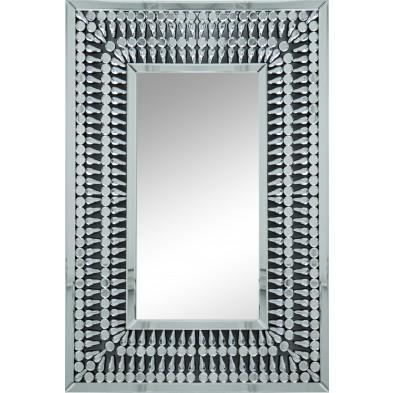 Miroir argenté design effet 3D 80 x 120 cm collection Bogami