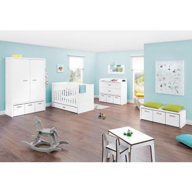 Composition pour chambre bébé en MDF coloris blanc  collection