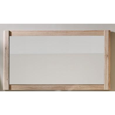 Miroir de salle de bain contemporain coloris chêne San Remo L. 117 x P. 3 x H. 65 cm collection  Linwood