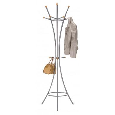 Porte manteau argenté design en acier L. 62 x P. 62 x H. 179 cm  collection Santacoloma