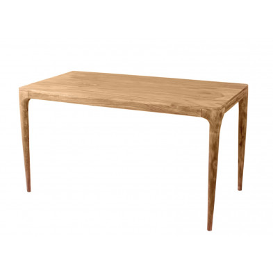 Table de salle à manger contemporaine en acacia coloris naturel   L. 180 x P. 90 x H. 76 cm collection Stockman