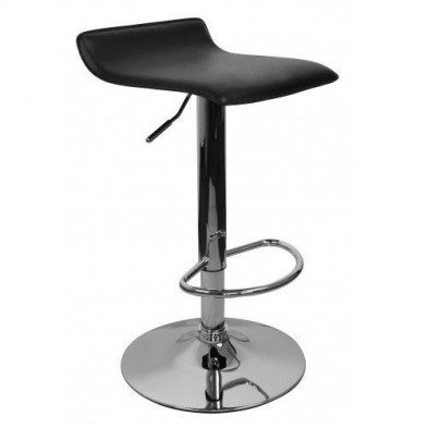 Tabouret de bar noir design L. 39 x P. 39 x H. 66 - 86 cm collection Denoever