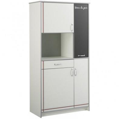 Meuble de rangement moderne blanc en panneaux de particules de haute qualité  L. 92 x P. 44 x H. 182 cm Collection Bagnaria