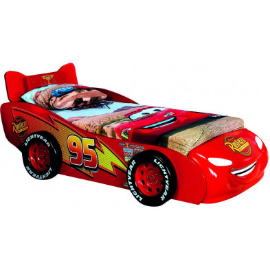 Lit voiture rouge design en bois mdf collection Guimaraes