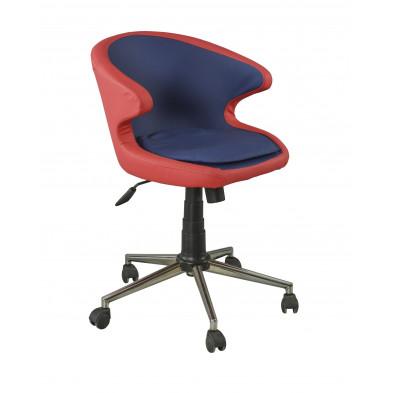 Chaise enfant Rouge et Bleu Design en Bois mdf 65 cm de largeur collection Venhuizen