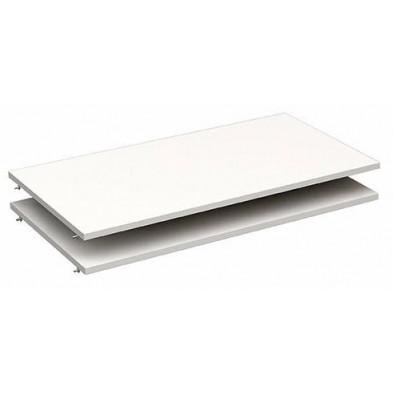 Etagère design blanc en panneaux de particules mélaminés de haute qualité L. 96 x P. 50 x H. 1 cm Collection Haidmuhle