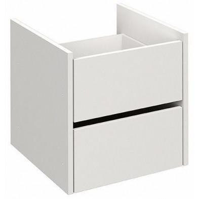 Etagère design blanc en panneaux de particules mélaminés de haute qualité L. 46 x P. 49 x H. 52 cm Collection Haidmuhle