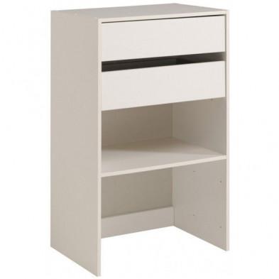 Meuble de rangement moderne blanc en bois mdf L. 60 x P. 40 x H. 101 cm Collection Limp