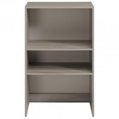 Bibliothèque contemporaine marron en bois mdf L. 60 x P. 40 x H. 101 cm Collection Limp