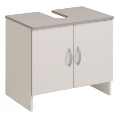 Meuble sous vasque moderne blanc en bois mdf  L. 60 x P. 38 x H. 54 cm Collection Vesed