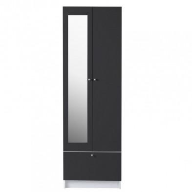 Colonnes moderne grise en panneaux de particules mélaminés de haute qualité L. 59 x P. 31 x H. 184.5 cm Collection Berk