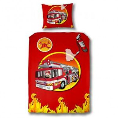 Housse de couette enfants rouge design en coton L.220 x l.140 cm  collection Vestea