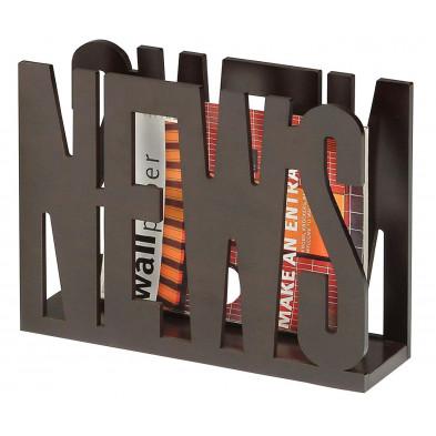 Porte-revue de bureaux marron design en panneaux de particules collection Rebergen