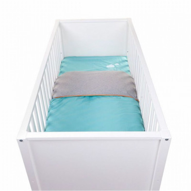 Housse de couette enfant design bleu 100% coton  L. 140 x P. 100 cm Collection Confine