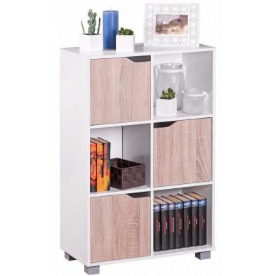 Rangement blanc design en bois mdf L. 60 x P. 60 x H. 94 cm collection Brora