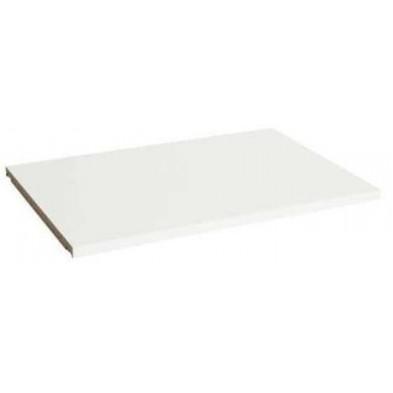 Étagère supplémentaire blanc design en bois massif pin L. 90,8 x P. 47 x H. 1,8 cm collection Boles