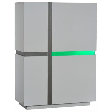 Argentier - meuble bar blanc design en panneaux de particules de haute qualité L. 96 x P. 42 x H. 131 cm collection Meulemans