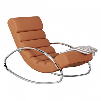 Fauteuil relax marron design en pvc  L. 61 x P. 111 x H. 81 cm collection Pencaitland