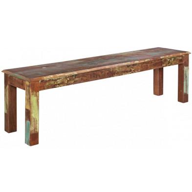 Bancs & banquettes de salle à manger marron vintage en bois massif L. 120 x P. 38 x H. 45 cm collection Fobe