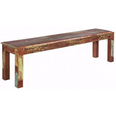 Bancs & banquettes de salle à manger vintage en bois massif marron  L. 160 x P. 38 x H. 45 cm collection Fobe