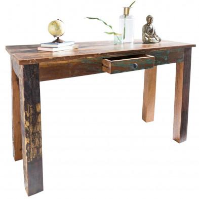 Consoles marron contemporain en bois massif manguier L. 120 x P. 50 x H. 84 cm collection Tindra
