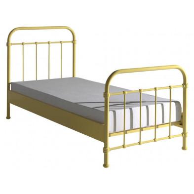 Lit metal jaune design en acier L. 208 x P. 98 x H. 111 cm collection Weijts