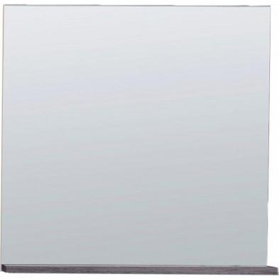 Miroir de salle de bain avec 1 tablette  coloris blanc et gris L. 60 x P. 13 x H. 60 cm collection Romano