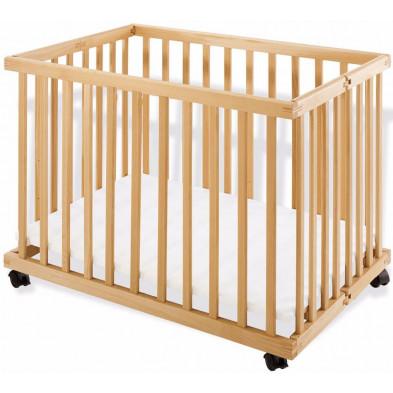 Parc pour bébé design beige L. 95 x H. 75 cm collection Marguerite