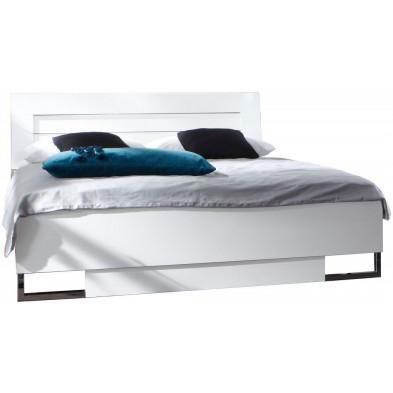 Lit 180x200 cm blanc design en panneaux de particules mélaminés de haute qualité collection Fifekeith