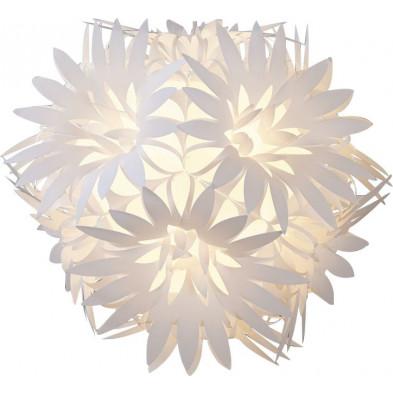 Suspension design floral coloris blanc collection Asmara
