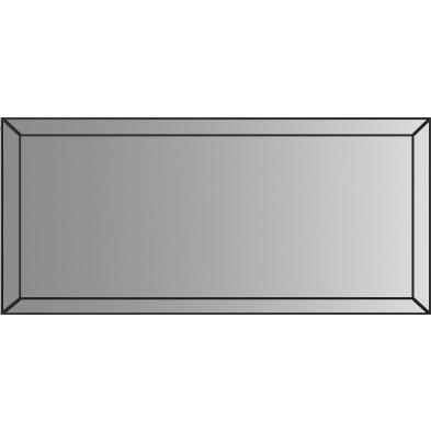 Miroir pour bahut design fumé noir 176.5 x 5 x 71.5cm collection Monaco