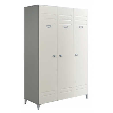 Armoire contemporain blanc L. 124 x P. 52 x H. 190 cm collection Farnetta