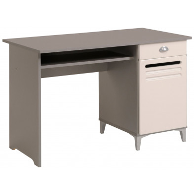 Bureau contemporain blanc L. 120 x P. 61 x H. 77 cm Collection Farnetta