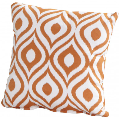 Coussin décoratif de jardin coloris orange L. 30 x H. 30 cm collection Kalmthout