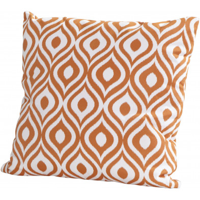 Coussin décoratif de jardin coloris orange L. 50 x H. 50 cm collection Kalmthout