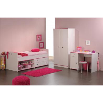 Chambre complète pour enfant contemporaine blanc en panneaux de particules de haute qualité Collection Velezrubio