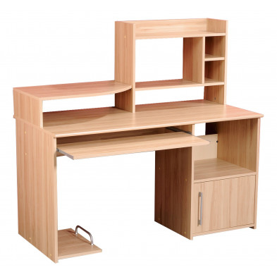 Bureau contemporain marron en  L. 135 x P. 65 x H. 127 cm Collection Hertz