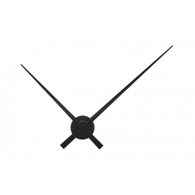 Horloge murale noir en aluminium collection Wieland