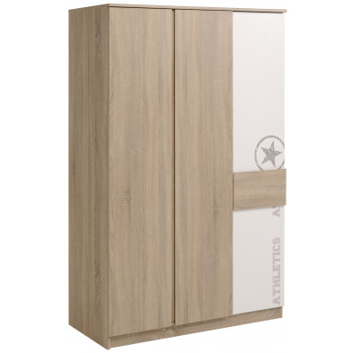 Armoire contemporain beige L. 114 x P. 52 x H. 183 cm collection Cadandrea