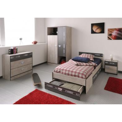 Chambre enfant complète contemporaine marron Collection Blois