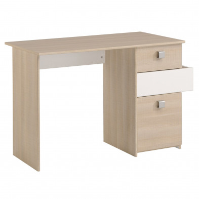 Bureau contemporain beige L. 114 x P. 55 x H. 74 cm Collection Stmalo