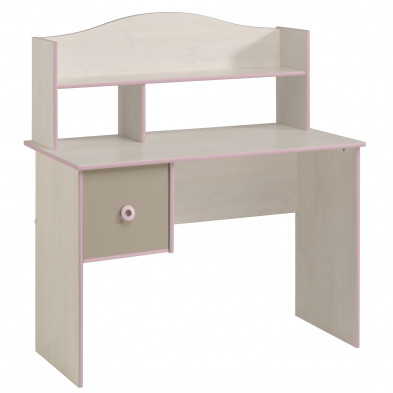 Bureau contemporain blanc en  L. 109 x P. 57 x H. 122  Collection Landsmeer