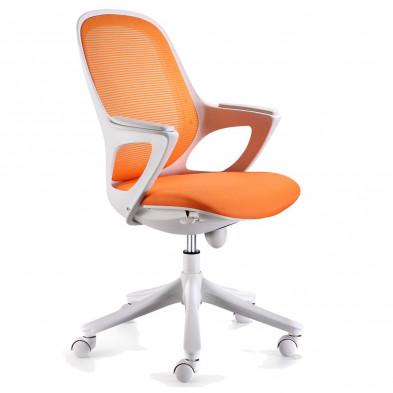 Chaise et fauteuil de bureau orange design L. 60 x P. 60 x H. 93 - 103 cm collection Cisternino