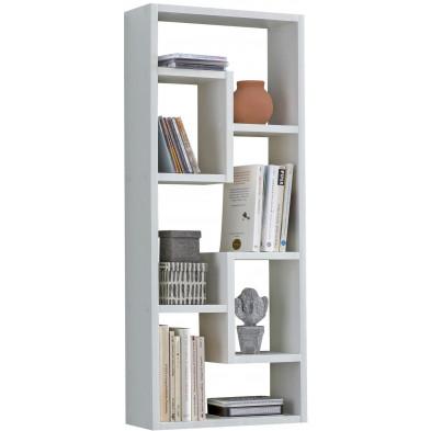 Commode et bibliothèque blanc design en panneaux de particules mélaminés de haute qualité L. 36 x P. 14.5 x H. 90 cm collection Dorrian
