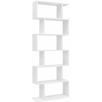 Bibliothèque adolescent blanc design en panneaux de particules mélaminés de haute qualité L. 70 x P. 24.5 x H. 190.5 cm collection Ilealacrobe