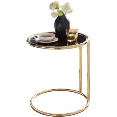 Table d'appoint or design en acier L. 45 x P. 45 x H. 53 cm collection Things