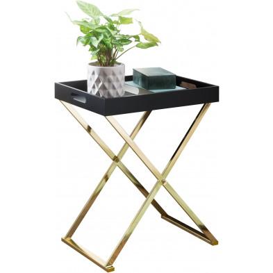 Table d'appoint or design en acier L. 46 x P. 32 x H. 61 cm collection Lingen