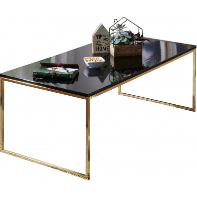 Table basse or design en acier 120 cm x 60 cm L. 120 x P. 60 x H. 45 cm collection Tiddington